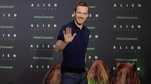Michael Fassbender, esta semana en Madrid, donde presentó 'Alien: Covenant'.