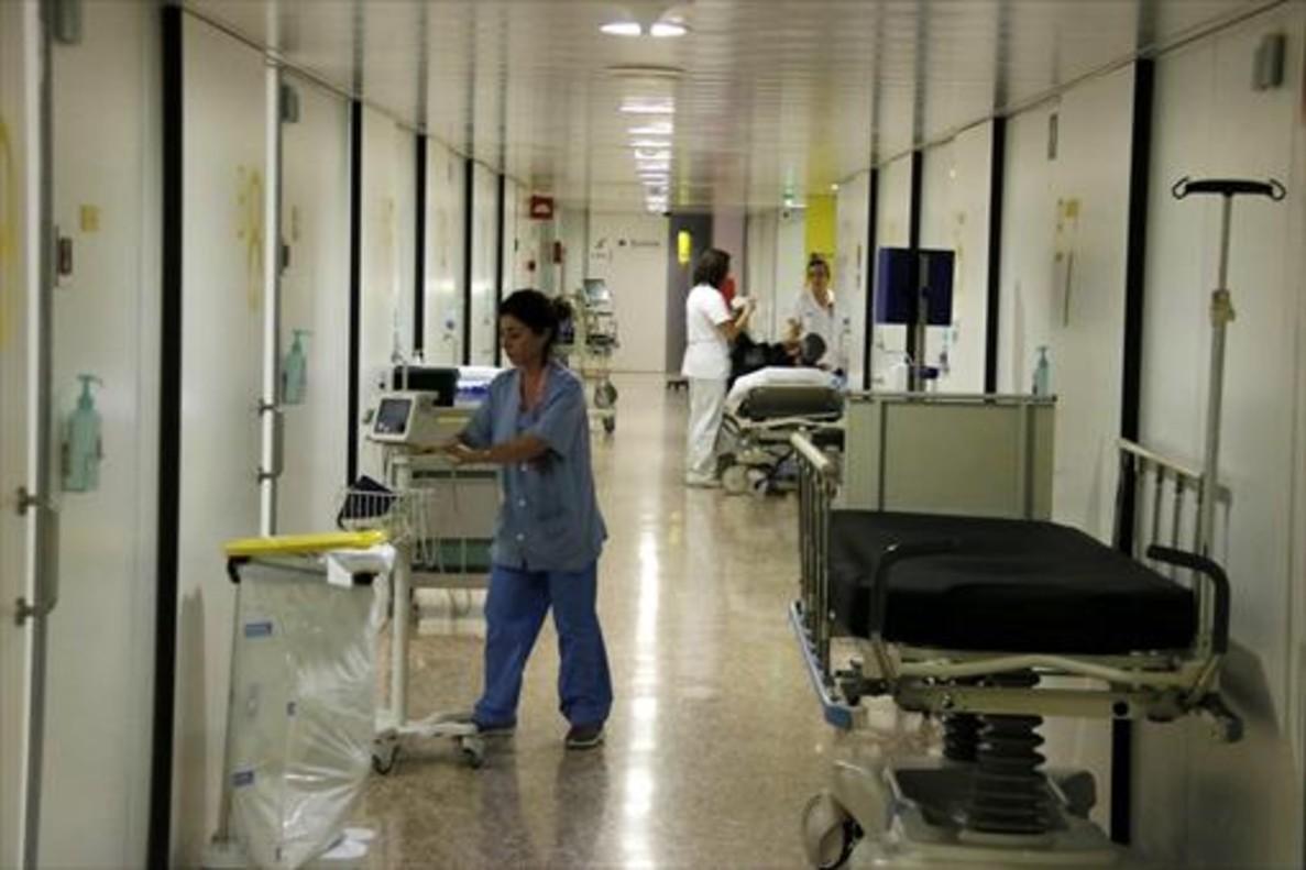 Módulos de urgencias en el hospital de Bellvitge.