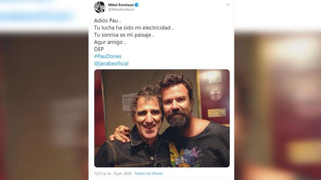 El mundo de la música despide a Pau Donés.