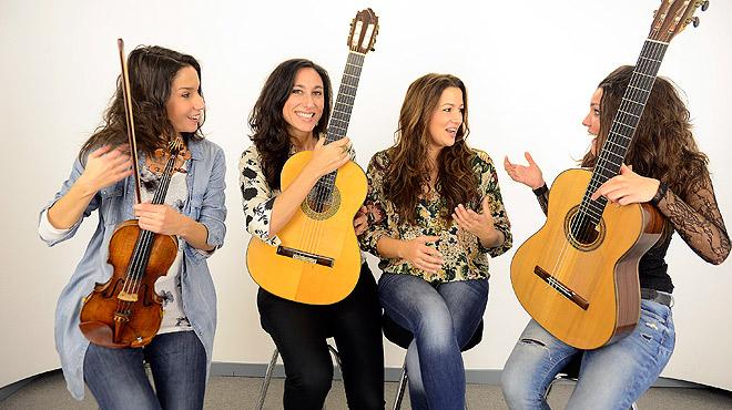 Las Migas cantan para Música Directa La plaça del Diamant.