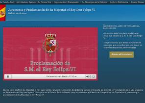 Nueva portada de la web de la Casa del Rey.