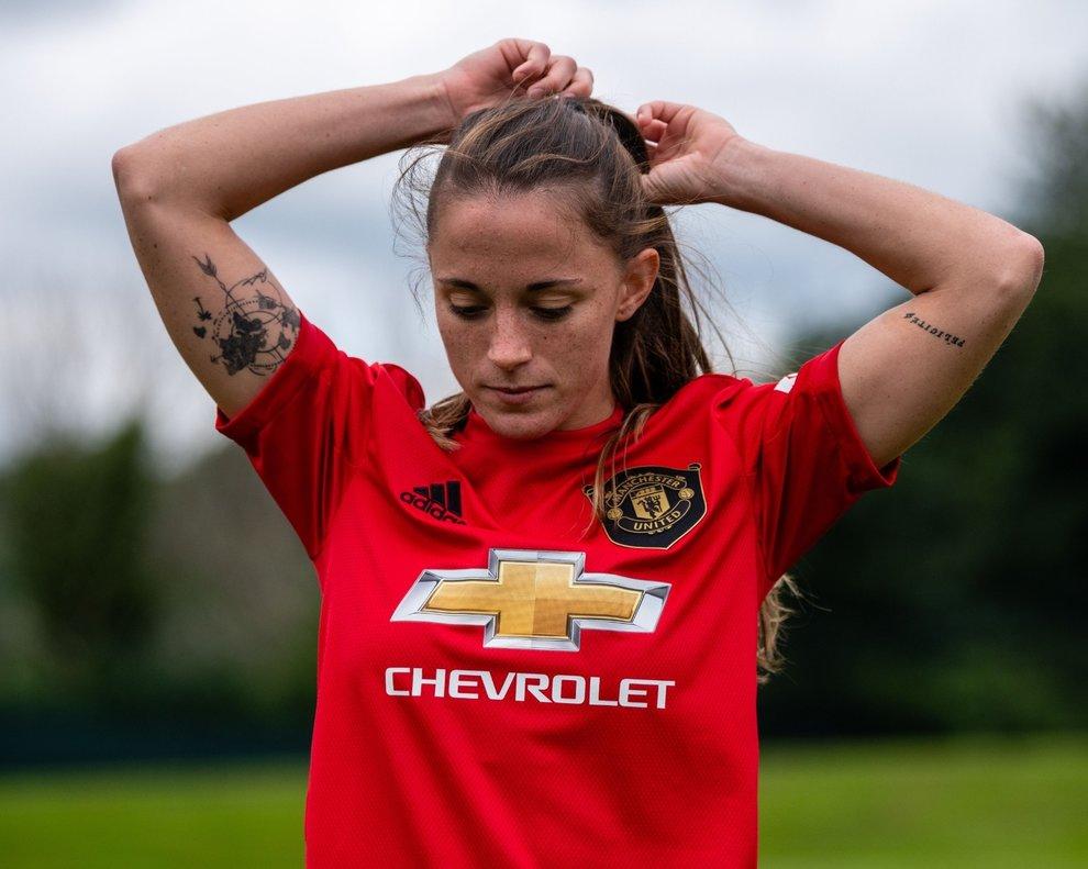 Ona Batlle, en un partido del Manchester United.