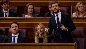 Pablo Casado en una sesión de control al Gobierno.