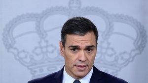 Pedro Sánchez, este jueves, en La Moncloa