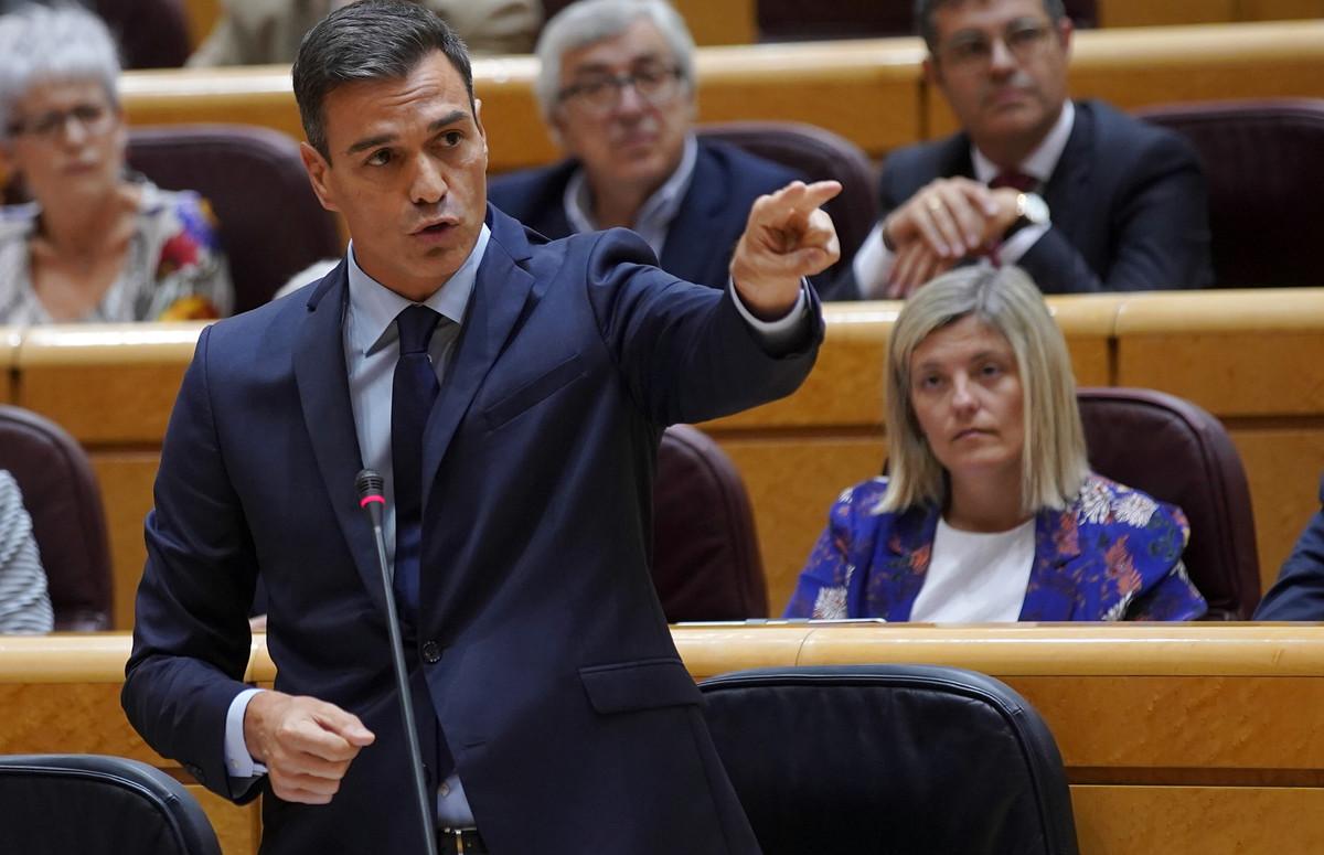 El presidente del Gobierno,Pedro Sánchez, durante un pleno del Senado, el pasado 11 de septiembre.