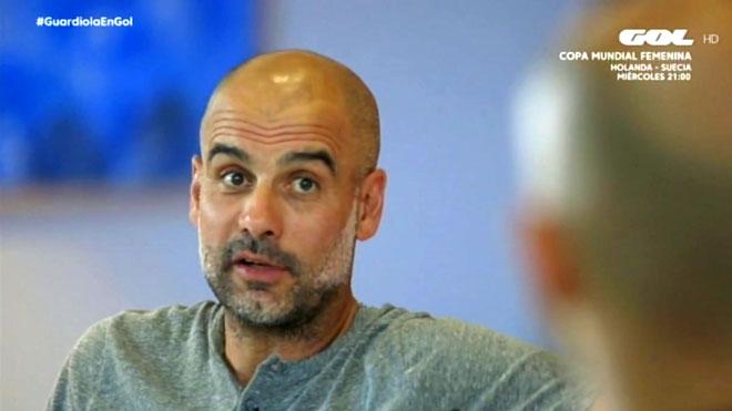 Pep Guardiola entrevistado en Gol TV.
