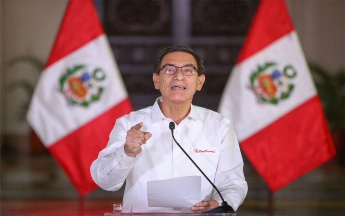 Martín Vizcarra, el presidente de Perú.