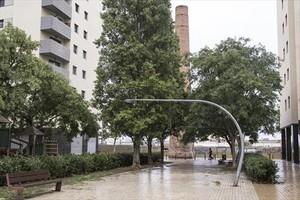 Plaza de Can Portabella, donde los vecinos dicen que hay altercados.