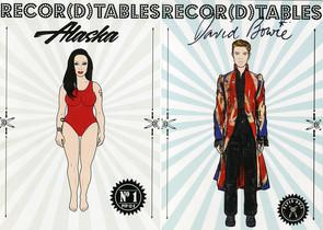 Portadas de los dos primeros números de Recor(d)tables, dedicados a Alaska y David Bowie.