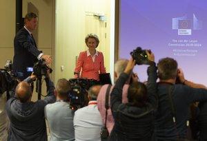 La presidenta de la Comisión Europea, Ursula von der Leyen, presenta a los comisarios de su mandato.