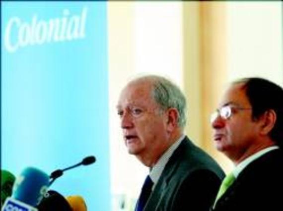 El presidente de Colonial, Juan José Bruguera (izquierda), y el consejero delegado, Pere Viñolas.