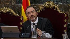 El presidente del tribunal del 'procés', Manuel Marchena, en la sesión de este miércoles, en la que el juicio ha quedado visto para sentencia.