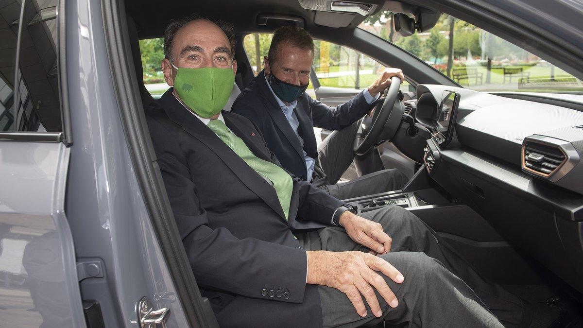 El presidente de Iberdrola, Ignacio Galán, y el CEO del Grupo Volkswagen, Herbert Diess