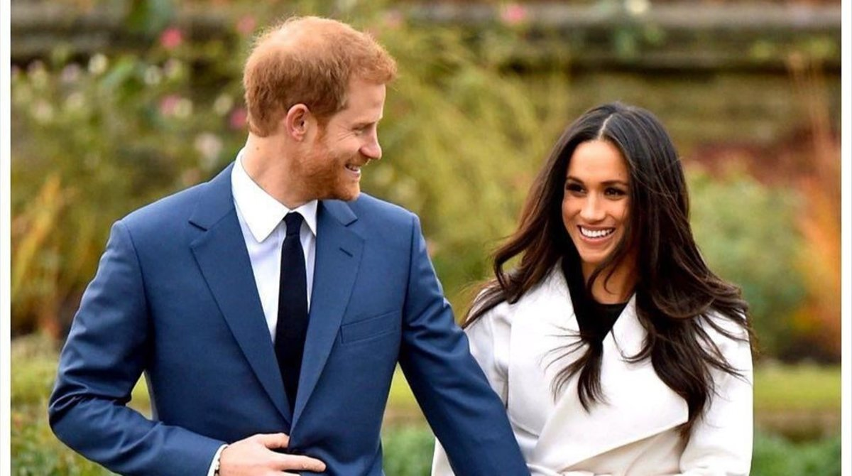 El príncipe Enrique y su mujer Meghan Markle.