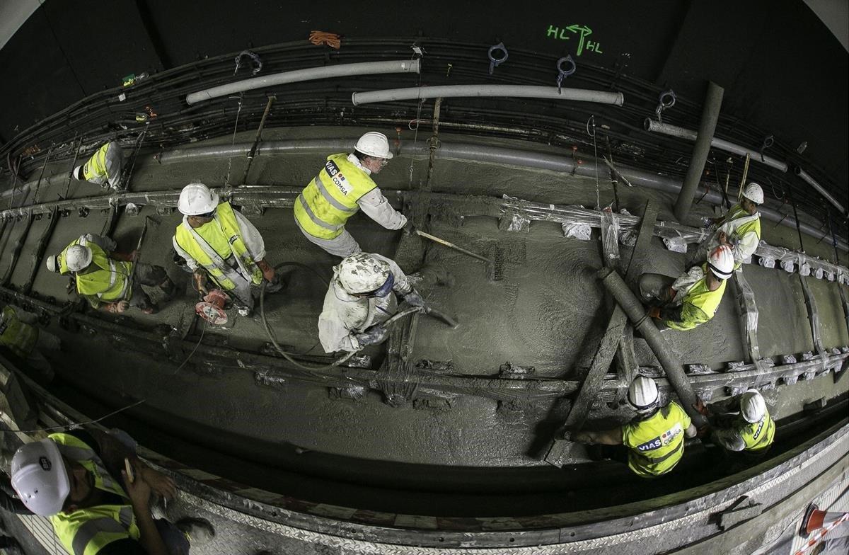 Renovación total de la infraestructura de las vías del Metro de Barcelona.