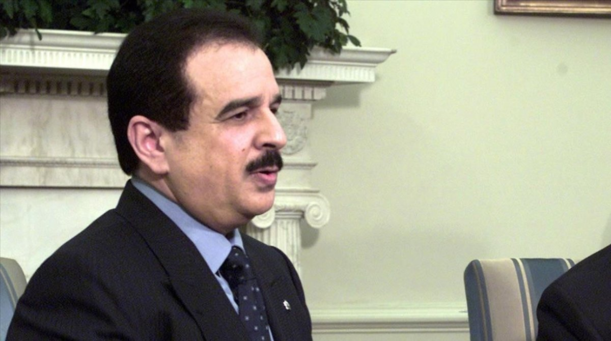 El rey de Barein Hamad bin Isa al Khalifa.