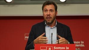 Rueda de prensa de Óscar Puente tras la reunión de la Comisión Permanente del PSOE.