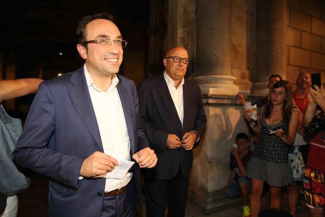 El coordinador general de CDC, Josep Rull, a la salida del Palau de la Generalitat.