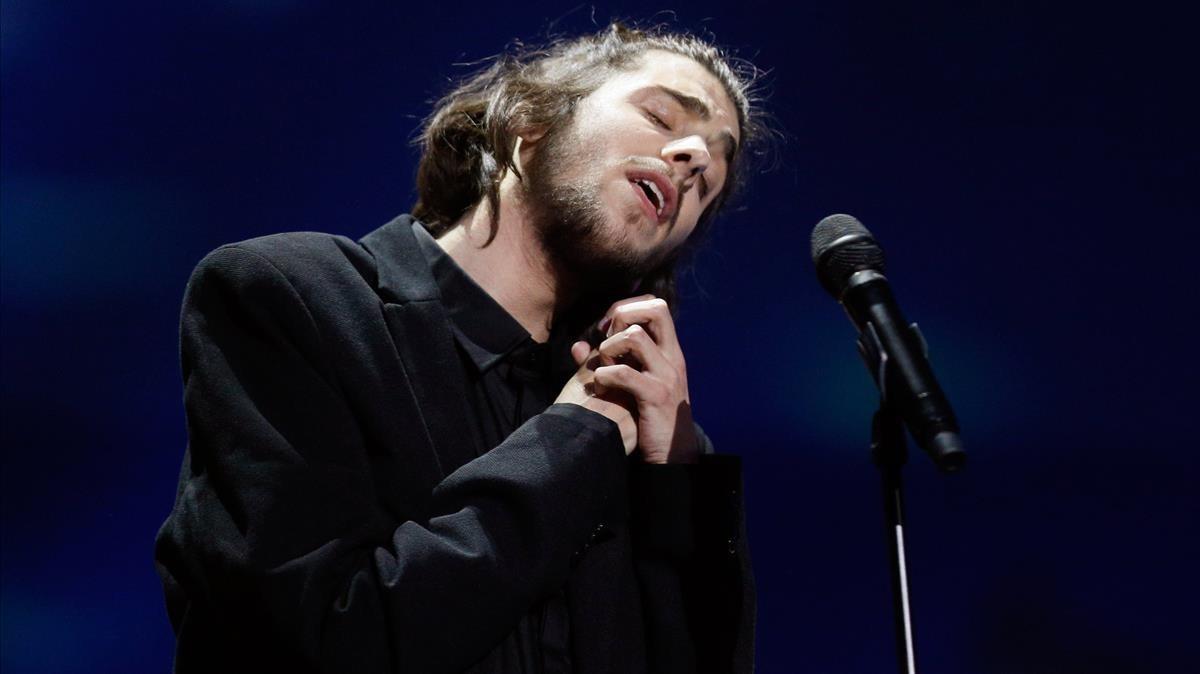 Salvador Sobral, en su actuación en el Festival de Eurovision del 2017