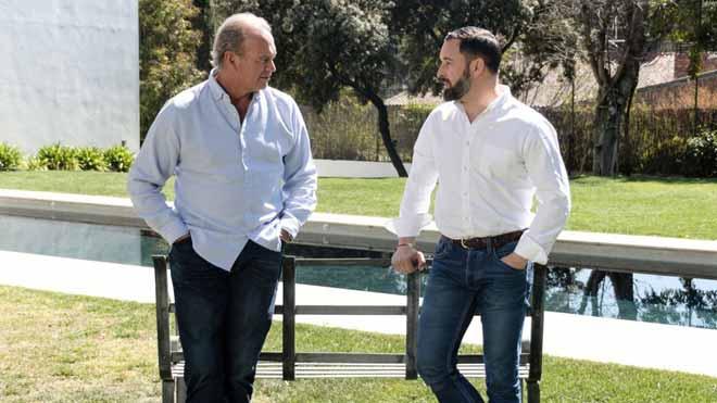 Santiago Abascal, de Vox, en el programa Mi casa es la tuya, de Bertín Osborne.