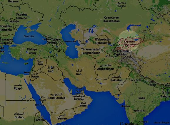 La situación de Kirguistán o Kirguizistán.