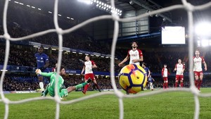 Imagen del partido de la Premier League Chelsea-West Bromwich, jugado el pasado 12 de febreroen Stamford Bridge.