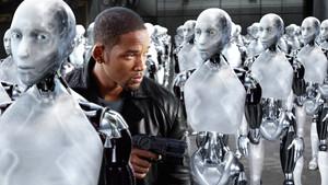 Will Smith, en una escena de la película Yo robot.