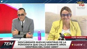 """Toñi Moreno habla en 'TEM' sobre Mariola Cubells: """"Qué feo tiene el corazón"""""""