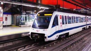 Un tren de Metro de Madrid.