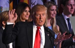 Trump, tras conocer su victoria.