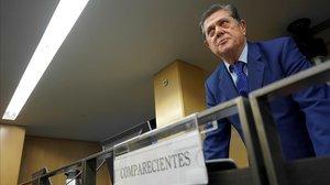 El exministro de Defensa Federico Trillo en la Comisión de Investigación de la Financiación Ilegal del PP