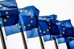 Banderas de la Union Europea enla Comision Europea en Bruselas. EFE