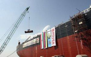Un buque petrolero dela empresa estatal Petróleos de Venezuela (PDVSA).