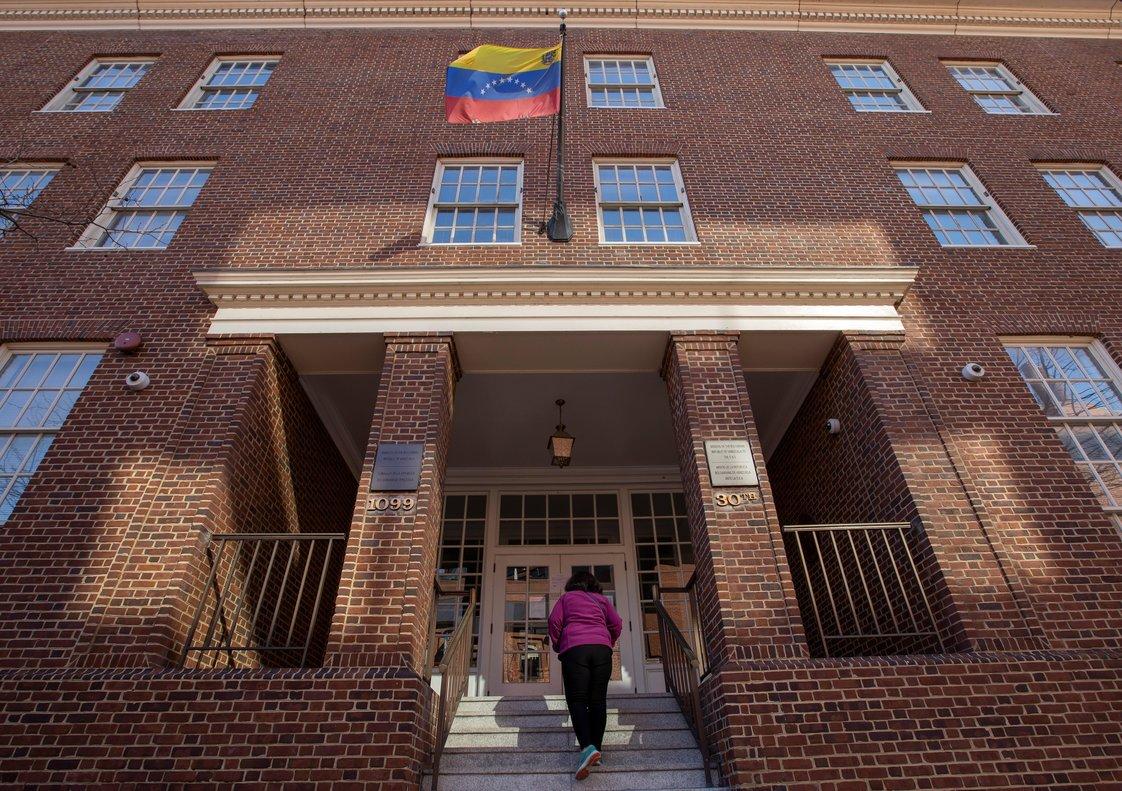Vista de la embajada de Venezuela en Washington, EEUU.EFE
