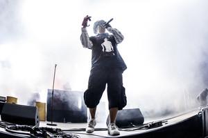Yung Lean durante su actuación en el Sónar, en la madrigada de este sábado.