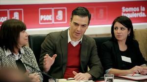 Pedro Sánchez ha presidido este martes la reunión de la ejecutiva federal del PSOE.