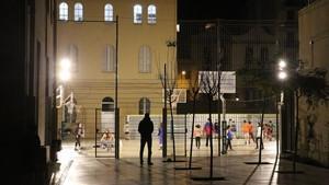 Patio del colegio Vedruna del barrio de Gràcia de Barcelona, el pasado jueves.