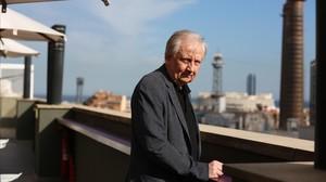 Wim Mertens, en la terraza de un hotel barcelonés.