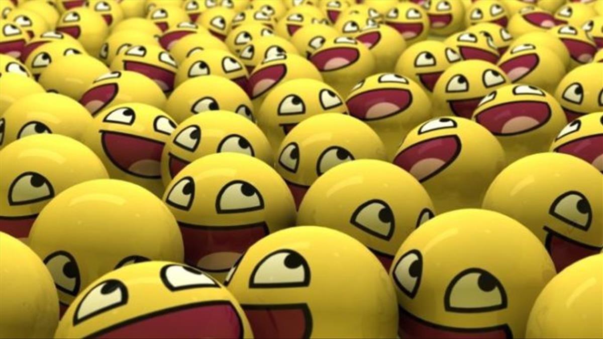 Decenas de emojis sonrientes