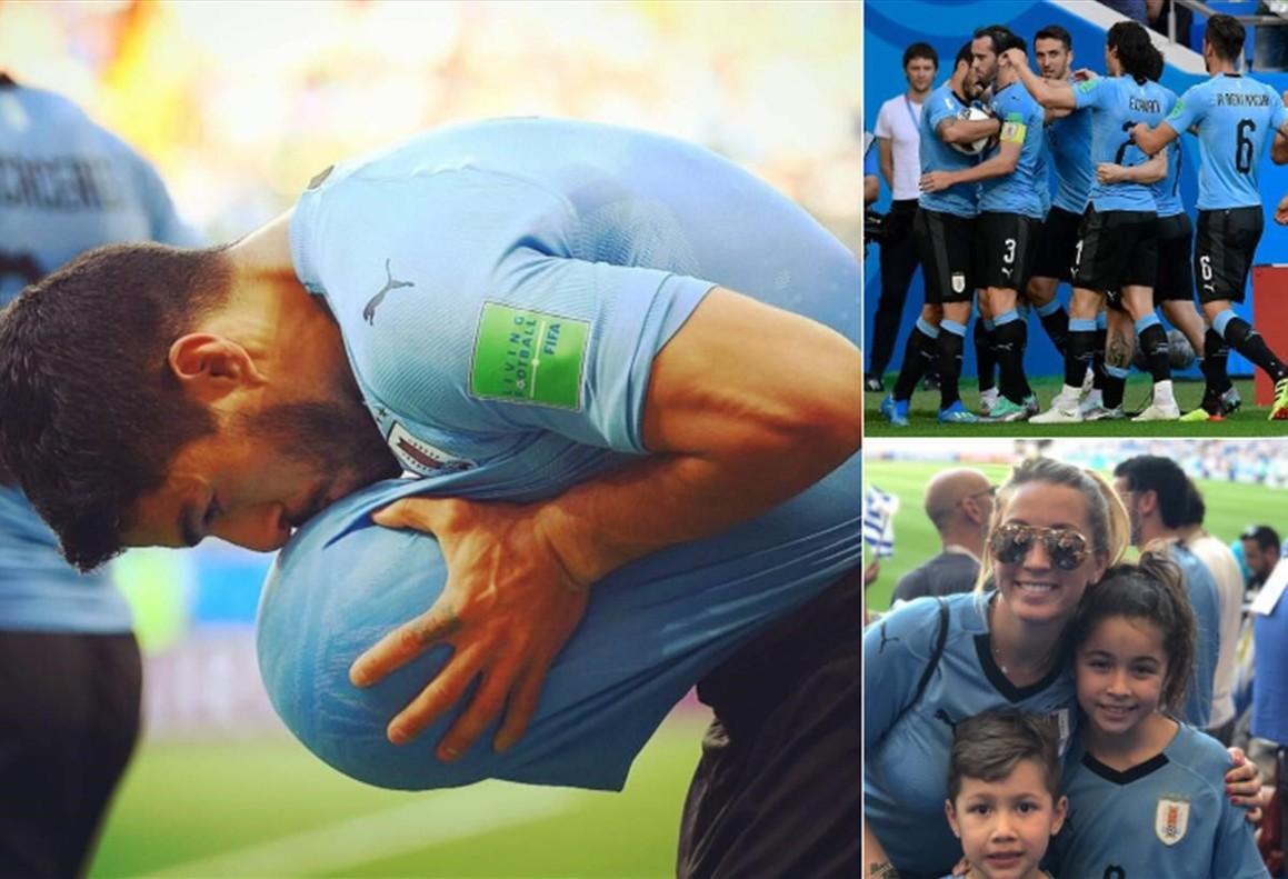 La combinación de fotos en la cuenta tuitera de Luis Suárez.