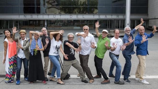 De izquerda a derecha: Gemma Beltran, Enric Ases, Nica Gimeno, Jürgen Müller, Silvia Marsó, Jordi Vilà, Antonio Moreno, Christian Atanasiu, Gilbert Bosch, Joan Segalés y Paco Mir.