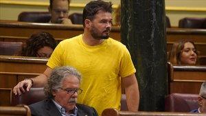 """Rufián: """"Sánchez, Rajoy i Rivera van pactar la presó per als independentistes"""""""