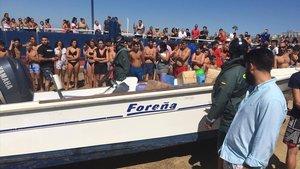 Operación de los cuerpos de seguridad contra el narcotráfico en el estrecho de Gibraltar.