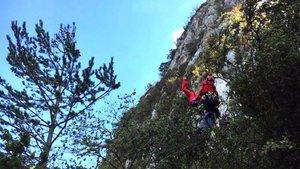 Un escalador mor al caure-li a sobre una pedra al Berguedà