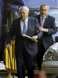 El extesorero del PP Álvaro Lapuerta, a su llegada a la Audiencia Nacional.