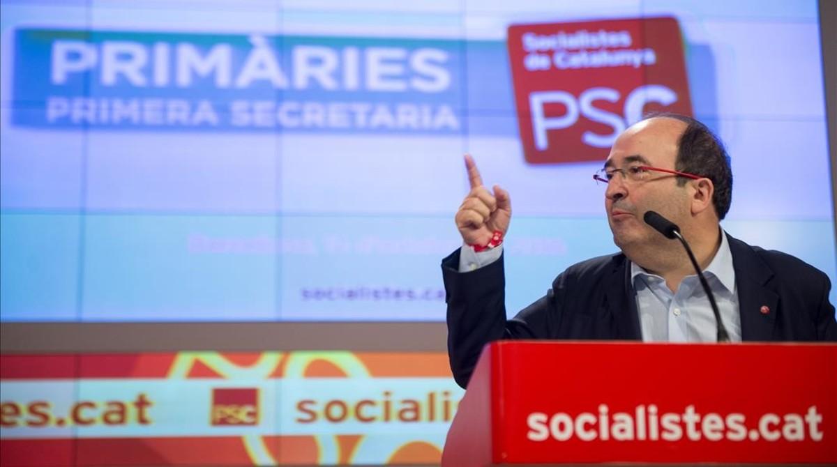Miquel Iceta, el pasado sábado tras ganar las primarias del PSC.