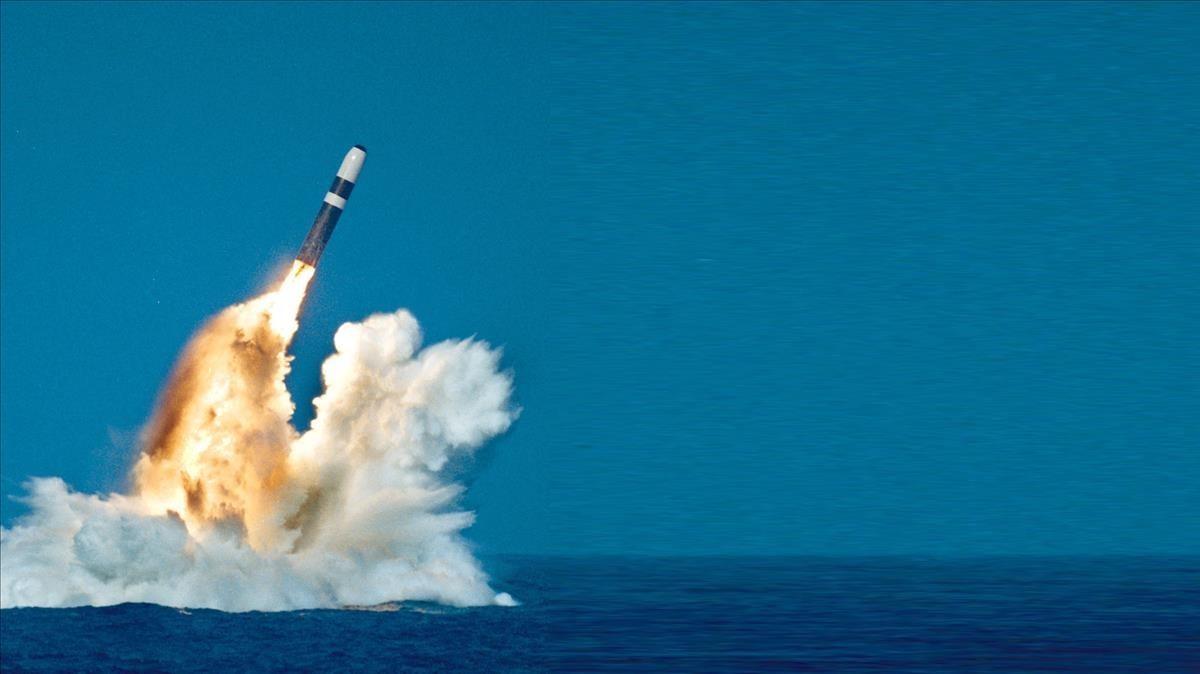 Un misil nuclear estadounidense lanzado desde un submarino