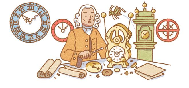 John Harrison, en el doodle de Google