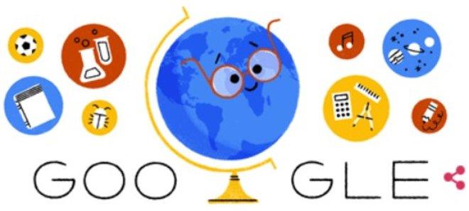 Doodle de Google dedicado al Día Internacional del Profesor 2018