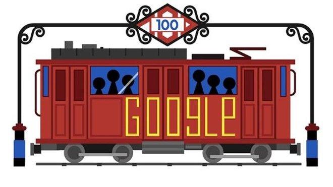 Doodle de Google dedicado al Metro de Madrid